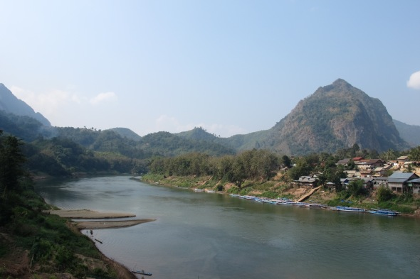 View from the bridge in Nong Khiaw