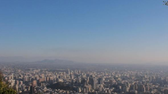 View of Santiago & it's layer of smog